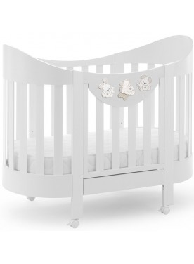 Ovales Babybett SWEET STAR