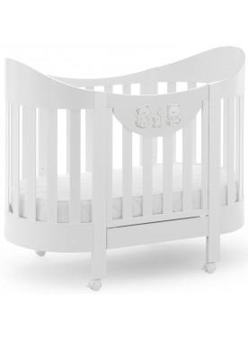 Ovales Babybett HAPPY FAMILY