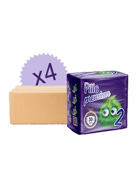 Pack mensuel couches Pillo 2 - 3/6 Kg