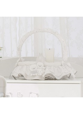 Cesto vimini Beauty tondo HAPPY FAMILY - Bianco