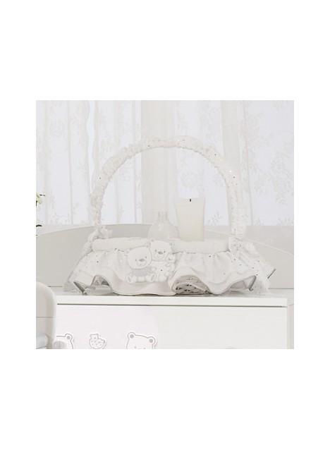 Cesto vimini Beauty tondo HAPPY FAMILY - Bianco