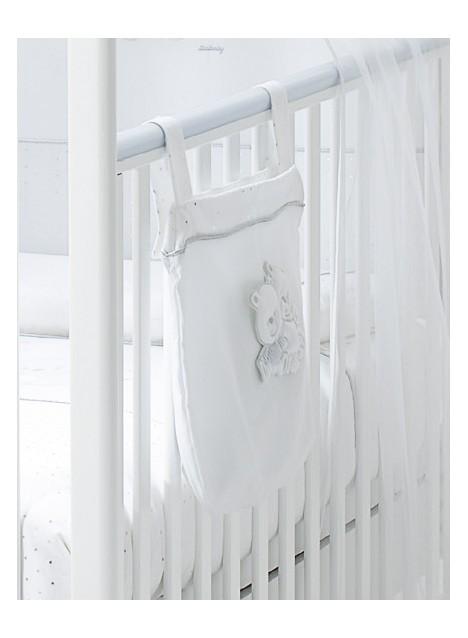 Tasca letto portapigiama HAPPY FAMILY - Bianco