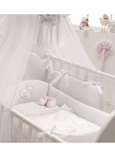 Riduttore Prima Nanna per lettino HAPPY FAMILY - Bianco