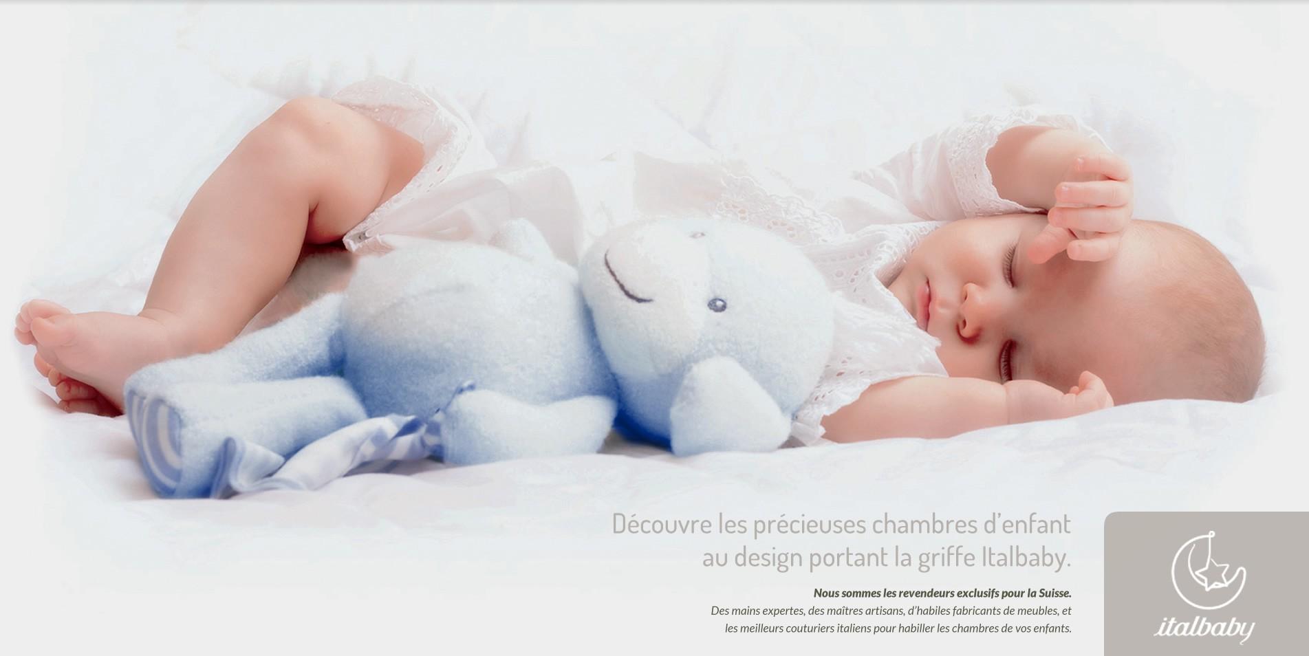 Découvre les précieuses chambres d'enfant au design portant la griffe Italbaby.